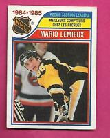 1985-86 OPC # 262 PENGUINS MARIO LEMIEUX LEADERS ROOKIE GOOD CARD (INV# D1356)