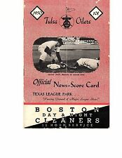 1950 TULSA OILERS vs FORT WORTH CATS Texas League Baseball Scorecard/Program