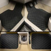 4Pcs Car Floor Mats Set Front Rear Carpet Liner Universal Fit Leather Waterproof