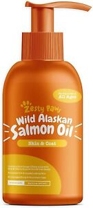 Zesty Paws Pure Wild Alaskan Salmon Oil for Dogs & Cats - Supports Joint...