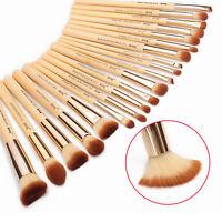 Jessup 20pcs Bamboo Makeup Brush Set Cosmetic Brushes Kit Powder Eyeshadow Cheek