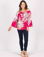 Rayon 3/4 Sleeve Floral Tops for Women