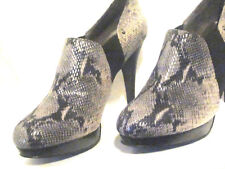 Coach SnakeSkin Platform Stilettos 9.5M Black & Gray Ankle Boots