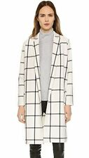 BB DAKOTA WOMEN'S BRONSON PLAID BLAZER COAT TRENCH DIRTY WHITE MEDIUM NEW! $124