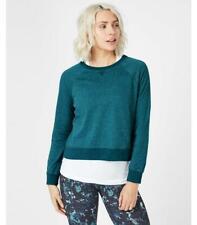NWT  Sweaty Betty Chelsea Crop Sweatshirt Long Sleeve Pullover Size Large