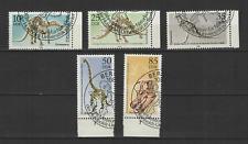 ALLEMAGNE DDR 1990 Y&T N°2924 à 2928 timbres oblitérés dinosaure /T3422