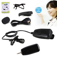 RF 2.4G Wireless Microphone Clip-on Lapel Tie Micro USB Mic Transmitter Receiver