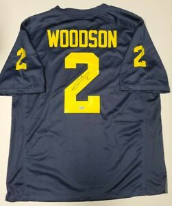 CHARLES WOODSON Autographed MICHIGAN WOLVERINES JORDAN football jersey. Fanatics