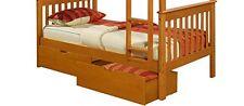 Dual Under Bed Storage Drawer Honey 505-H New