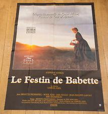 LE FESTIN DE BABETTE Affiche cinéma 120X160 GABRIEL AXEL, STEPHANE AUDRAN