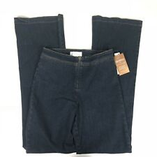 NWT Soft Surroundings Exposed Zipper Front Jeans Women Slimfitters Small Tall ST