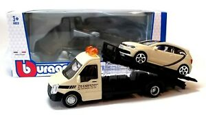 BREAKDOWN FLATBED & VW POLO GTi - 1:43 Die-Cast Model - Car & Truck Burago - New