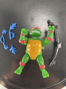 Vintage 1989 TMNT Wacky Action Breakfightin' Raphael Action Figure Rafael Raf