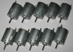 10 X Mabuchi RS-365RH Motor - 24 VDC - 8500 RPM - Appliance / Massager DC Motors