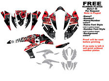 DFR SUBCULTURE GRAPHIC KIT RED SIDES/FENDERS KAWASAKI KFX450R KFX450
