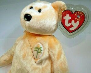 """TY Beanie Babies """"Dearest"""" USA 2002 Teddy Bear 8"""" new unused with tag"""