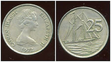 iles  CAYMANS  25 cents  1972