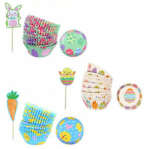 Easter Cupcake Set - Cake Cases and Toppers Random Design Sent