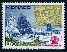 Monaco 1301, MNH. Arctic Committee Congress.Hauling Ice Floes,17th cent.Map,1981