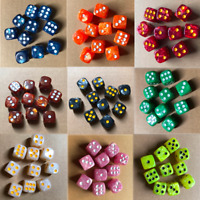 10Pcs 16mm Pearl Round Corner Dice 6-Sided Dice D6 For Party Table Games Tool