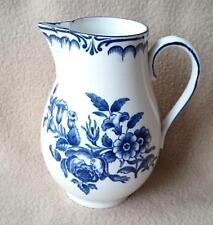 ANTIQUE BOOTHS ROYAL WORCESTER DR WALL REPR BLUE WHITE PORCELAIN CREAM JUG PEONY