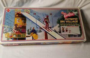 Vintage 1974 Mattel Barbie Olympic Ski Village In Orginal Box INCOMPLETE READ