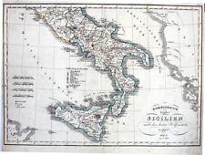 Antique map, Koenigreich beyder sicilien