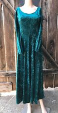 Crush Velvet 90s Dress Green Grunge Boho Long Maxi Party All That Jazz Fall Vtg