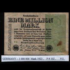 Germany 1 000 000 Mark banknote 1923, P#102 VG