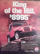 1989 Jeep Wrangler King Of The Hill Advertisement