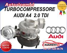 TURBOCOMPRESSORE AUDI A4 2.0 TDI 103KW DAL 1/2005 AL 12/2008