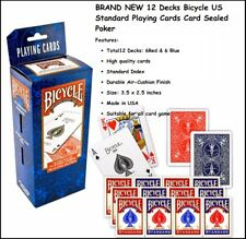 BRAND NEW 12 Decks Bicycle US Standard Playing Cards Card Sealed Poker