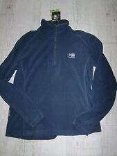 KARRIMOR Men's MICRO Fleece PULLOVER Half Zip JACKET Top SLATE BLUE Size L NEW