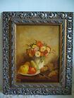 Quadro Natura morta Fiori e frutta di F.La Tour olio su tavola painting oil copy
