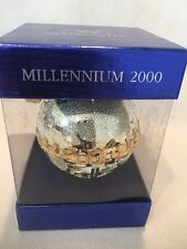 Wallace Silversmiths Millennium 2000 Gold and Silver Globe Ornament on Base