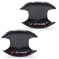 For Toyota C-HR 2018 19 Sport 2Dr Bowl Insert Handle Cover Carbon Black