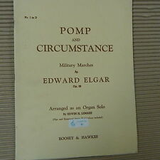organ ELGAR Pomp and Circumstance Op. 39,  military march, Ed. Lemar