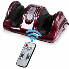 Shiatsu Foot Massager Kneading and Rolling Leg Ankle w/Remote Burgundy