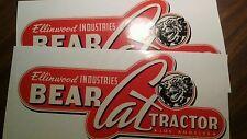 "Ellinwood Bear Cat tractor decal Los Angeles walking tractor 12"" hg vinyl set 2"