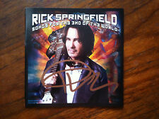 Rick Springfield Songs for the End of the World cd comes with signed booklet