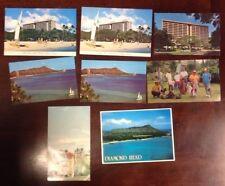 8 Vintage Hawaii Hawaiian Postcards Beach Island Photo Photography