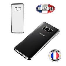 Housse Silicone Transparente Contour Chromé Argent pour Samsung Galaxy S8 Plus