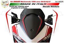 adesivi per cupolino in carbonio Ducati multistrada 1200 950 DVT  V503R