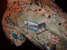 Postcard Tourist Tropical Hawaiian Jamaica Caribbean Joe Short Sleeve Shirt
