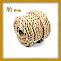 40mm Jute Rope Twisted Cord braided Garden Boating Deckingh Home 12345678910