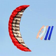 2.5m Dual Line Parachute Kite Paragliding Beach Stunt Surf Outdoor Sport Nylon