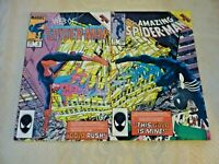 Web of Spider-Man #6 & Amazing Spider-Man #268 1985 Marvel Connecting Covers (H0