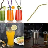 1Pcs Stainless Steel Metal Drinking Straw Reusable Straws