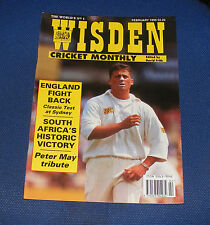 WISDEN CRICKET MONTHLY FEBRUARY 1995 - ENGLAND FIGHT BACK/PETER MAY TRIBUTE