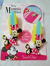 New - Towel Clips for Beach / Pool Towels (1 set of 2 pcs.)- Disney Minnie Mouse